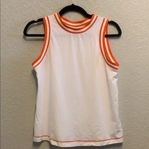 NWOT Hunter orange white stripe tank top xs